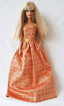 Hračky - Orientálne spoločenské šaty pre Barbie - 11199016_