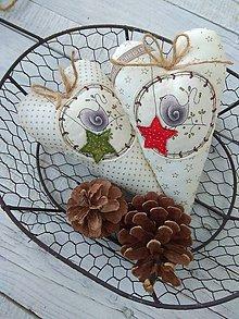Dekorácie - Vianočné s vtáčatkami - 11198121_