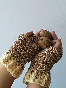 Rukavice - rukavičky škoricové - 11197782_