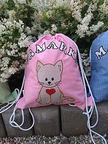 Detské tašky - Sťahovací vak s menom - dievčenský - 11195523_