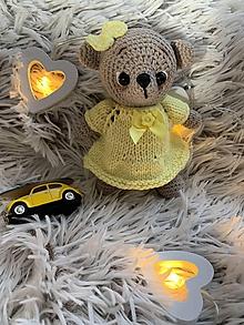 Hračky - macko Mini výletník - v žltom - 11197668_
