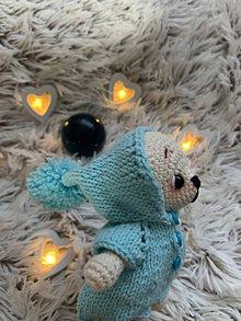 Hračky - macko Mini výletník - v modrom - 11197843_