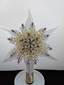 Dekorácie - Hviezda -špic na stromček-žlto zlata - 11196792_