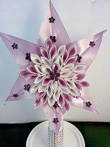 Dekorácie - Fialova hviezda na stromček - špic - 11196928_