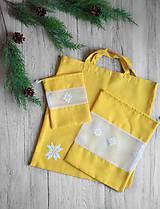 Úžitkový textil - SET: nákupná taška + 2 väčšie vrecúška + 2 menšie vrecúška - 11197601_