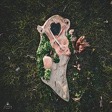 Hodiny - ART - Moss - Orechové drevené hodiny - 11197944_
