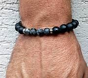 Šperky - Náramok /pánsky ,ónyx - 11198164_