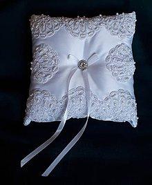 Iné doplnky - Vankúšik pod svadobné obrúčky - 11196453_