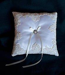 Iné doplnky - Vankúšik pod svadobné obrúčky - 11198100_