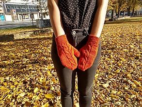Rukavice - Pletené rukavice - 11198478_