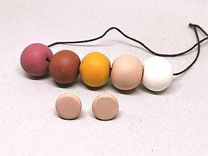 Sady šperkov - bielo-hnedé - 11198969_