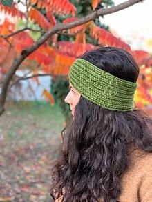 Čiapky - čelenka zelená - 11198034_
