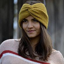 Čiapky - Turban čelenka...okrová - 11197357_