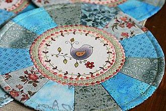 Úžitkový textil - prestierania s vtáčikmi - 11196428_