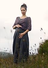 Šaty - Maxi mušelínové šedé puntíčkové - 11198794_