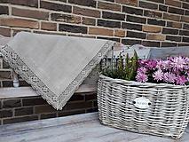 Úžitkový textil - Ľanový obrus Gift of Nature - 11198760_