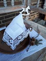 Úžitkový textil - Ľanový obrúsok Desire - 11198856_