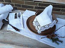 Úžitkový textil - Ľanový obrúsok Desire - 11198858_