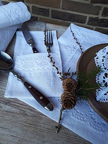 Úžitkový textil - Ľanové puzdro na príbor Desire - 11198823_