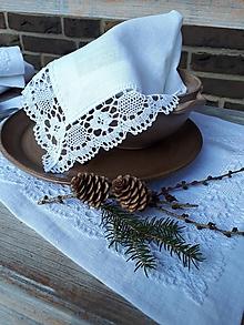 Úžitkový textil - Ľanový obrúsok Desire - 11198857_