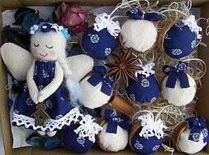 Dekorácie - oriešková bonboniéra modrá - 11201409_