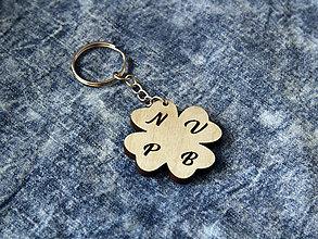 Kľúčenky - Kľúčenka Štvorlístok - 11199492_
