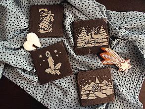Pomôcky - Set vianočných kamenných podšálok - 11201603_