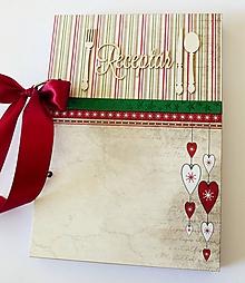Papiernictvo - Receptár vianočný - 11199732_