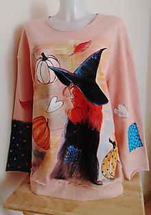 Mikiny - Ručnemaľovaná tepláková mikina - Halloween :) - 11199941_
