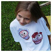 Detské oblečenie - Detské tričko - OčiPuči parťáci Wincko a Roozalka :) - 11202196_