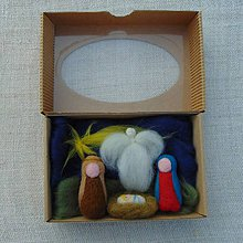 Dekorácie - ...plstený betlehem v krabičke... - 11201452_
