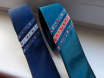 Doplnky - Folklórna kravata / slim / - 11202570_