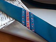Doplnky - Folklórna kravata / slim / - 11202572_