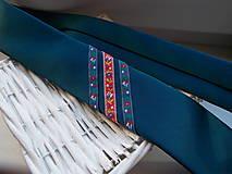 Doplnky - Folklórna kravata / slim / - 11202573_