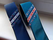 Doplnky - Folklórna kravata / slim / - 11202575_