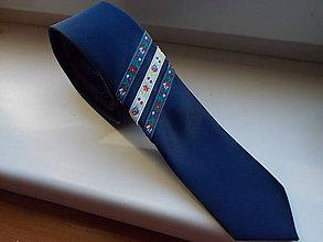 Doplnky - Folklórna kravata / slim / - 11202567_