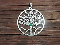 Náhrdelníky - stromček života-šťastia-avanturín- - 11202462_