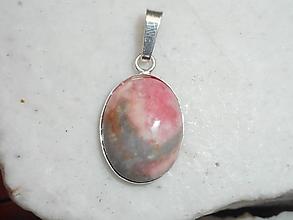 Náhrdelníky - pink rodochrozit-silver - 11202600_