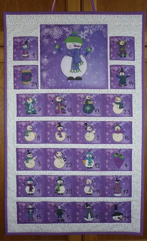 Adventný kalendár SNEHULIACI (fialový)