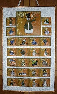 Dekorácie - Adventný kalendár SNEHULIACI (medený) - 11199466_