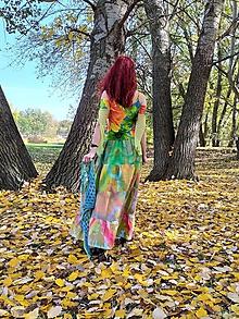 Sukne - In the jungle -Volánová bohémska shibori sukňa - 11200370_