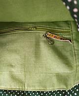 Batohy - Zelená sada batoh + taštička + puzdro - 11199513_