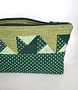 Batohy - Zelená sada batoh + taštička + puzdro - 11199514_
