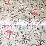 Textil - zvieratká na lúke, 100 % bavlna Francúzsko, šírka 150 cm - 11200938_