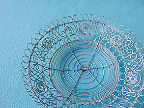 Dekorácie - Drôtená miska Cifrovaná - 11200023_