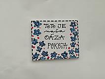 Tabuľky - tabuľka na dvere - Oáza pokoja - 11199358_