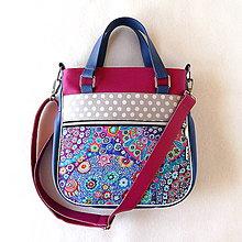 Veľké tašky - Big Sandy - Modro-cklámenová - 11200539_