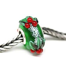 Náramky - Vianočna pandora zelena /ch-167 - 11199765_