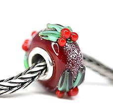 Náramky - Vianočna pandora červena /ch-168 - 11199791_
