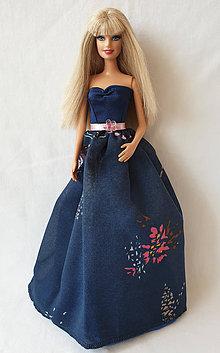 Hračky - Tmavomodré spoločenské šaty pre Barbie - 11200757_